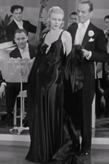 Ginger Rogers Black Evening Dress In Movie Roberta