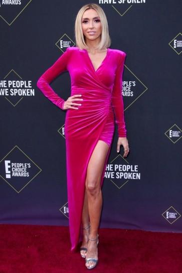 Giuliana Rancic Fuchsia Prom Dress 2019 E! People's Choice Awards