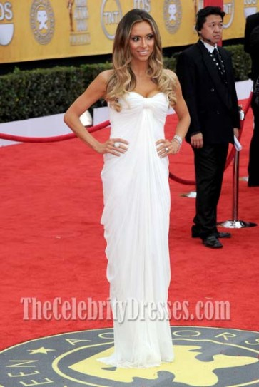 Giuliana Rancic White Strapless Prom Dress Formal Gown 17th Annual Screen Actors Guild Awards