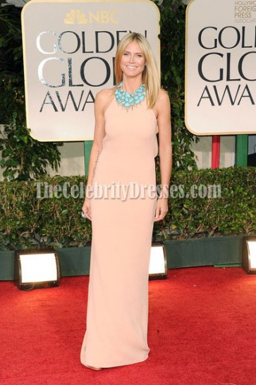 Celebrity Dresses Heidi Klum Prom Dress Evening Gown 2012 Golden Globes Red Carpet
