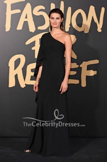 Isabeli Fontana Black One Shoulder Dress 2019 Fashion for Relief London