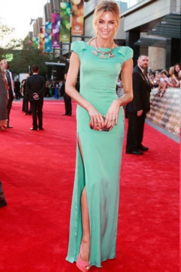 Jennifer Hawkins Evening Dress Australian Logie Awards 2012 Celebrity Dresses