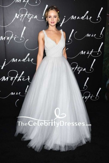 Jennifer Lawrence Backless Tulle Ball Gown 'Mother' New