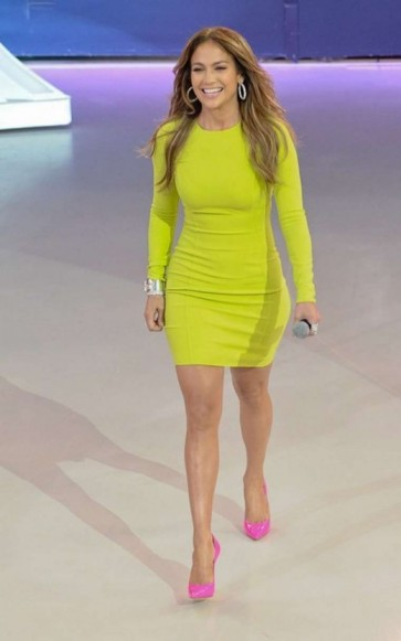 Jennifer Lopez Short Long Sleeve Party Dress Sao Paulo Promotions