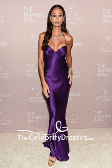 Joan Smalls Spaghetti Straps Halter Regency Evening Dress The Diamond Ball