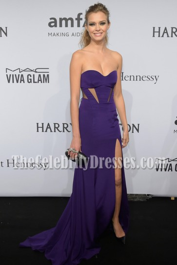 Josephine Skriver Regency Strapless Evening Dress 2015 AMFAR NEW YORK GALA 2015 4