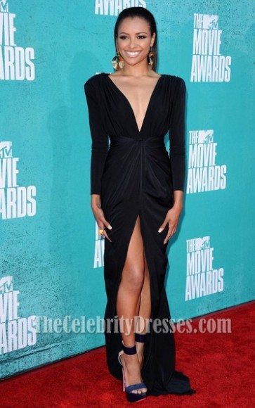 Kat Graham Black Prom Evening Dresses 2012 MTV Movie Awards