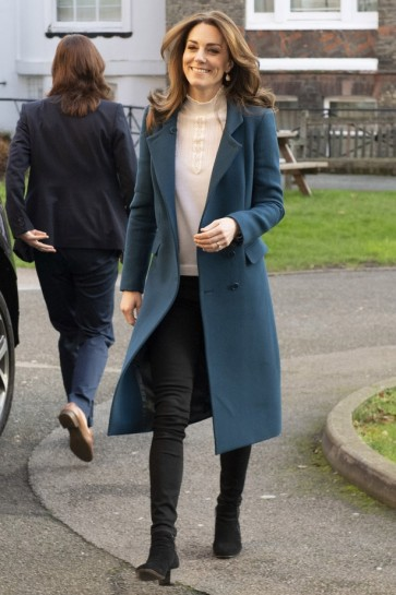 Kate Middleton Ink Blue Coat