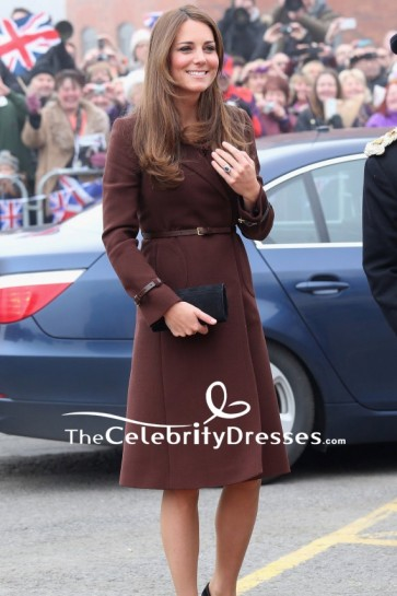 Kate Middleton Wool Coat With Sleeves In Grimsby