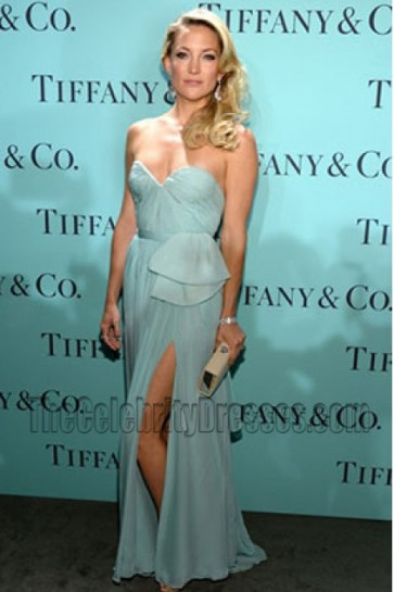 Kate Hudson Strapless Prom Evening Dresses Tiffany & Co. Blue Book Ball Gown