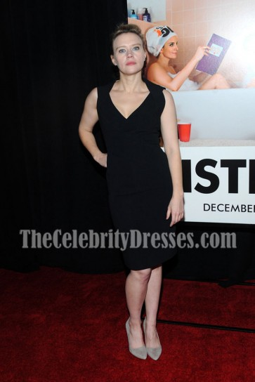 Kate McKinnon Black Cocktail Dress For Less Sisters New York Premiere 3