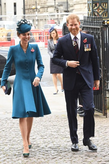 Kate Middleton Blue Outfits With Sleeves Anzac Day Service 2019