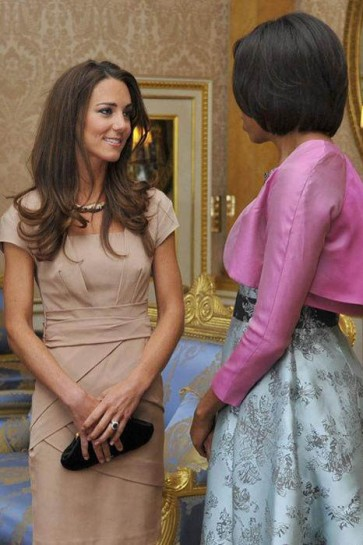 Kate Middleton Cap Sleeves Knee Length Dress TCDHC0005