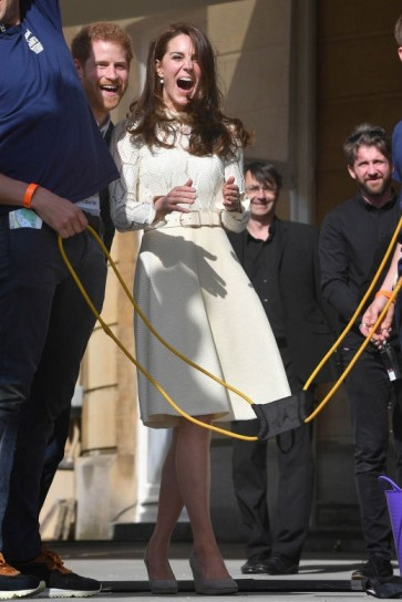 Kate Middleton White Cut Out Cocktail Dress With Long Sleeves
