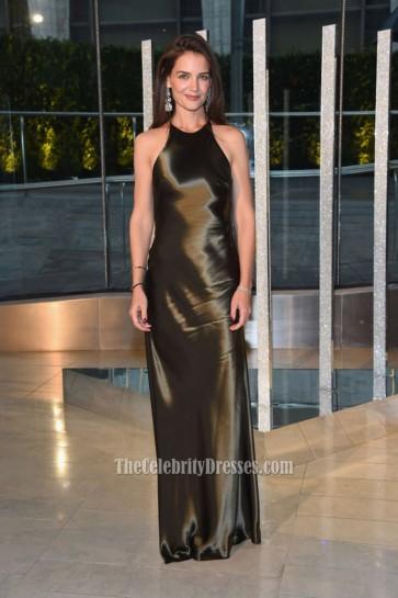 Katie Holmes 2015 CFDA Fashion Awards Spaghetti Backless Formal Dress 4