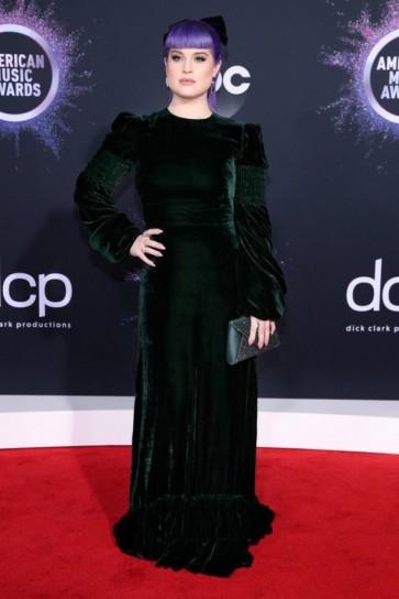 Kelly Osbourne Dark Green Long Sleeves Evening Dress 2019 American Music Awards
