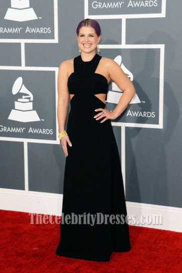 Kelly Osbourne Sexy Black Prom Dress 2013 Grammy Awards