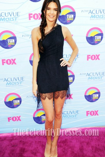 Kendall Jenner Short Black Lace Dress Teen Choice Award 2012