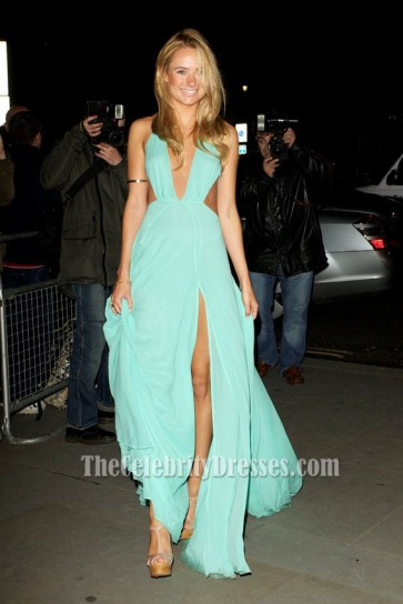 Kimberley Garner Sexy Blue Prom Dress 'The Dark Knight Rises' Premiere
