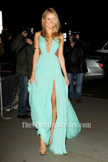 Kimberley Garner Sexy Blue Prom Dress 'The Dark Knight Rises' Premiere
