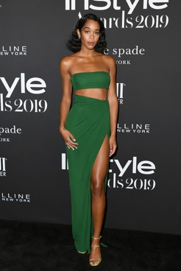 Laura Harrier Sexy Two Pieces Dress 2019 InStyle Awards