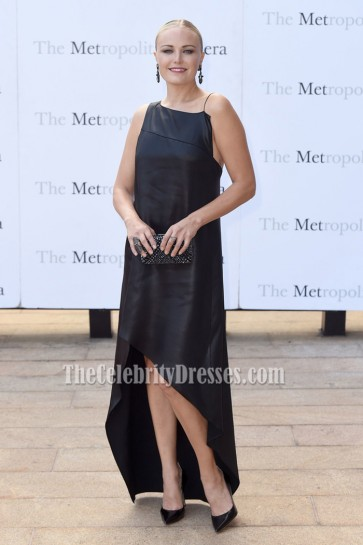 Malin Akerman Sexy Black Asymmetrical Prom Gown Met Opera 2016-2017 Season Opening Performance 2
