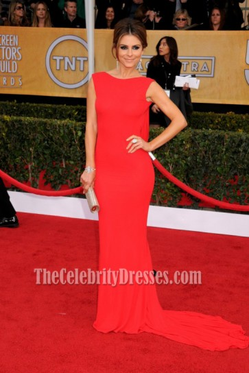 Maria Menounos Red Backless Prom Dress 2013 SAG Awards