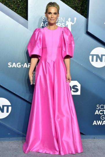 Molly Sims Hot Pink A-line Formal Dress 2020 SAG Awards