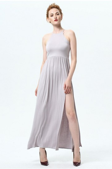 Long Sleeveless Side Slit Evening Party Dress TCDMU0026