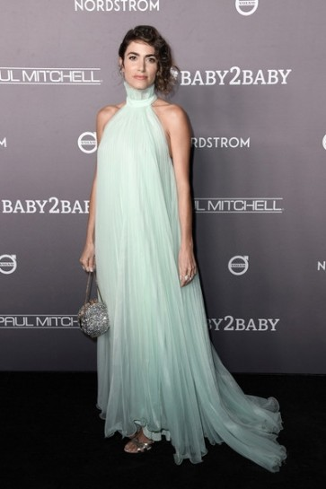 Nikki Reed mint-green Prom Dress with halter 2019 Baby2Baby Gala