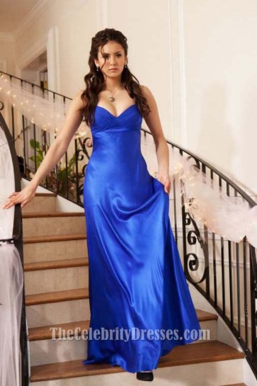 Nina Dobrev Royal Blue Evening Dress In Vampire Diaries Miss Mystic Falls