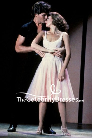 Pearl Pink Fit And Flare Cocktail Dress In Movie Dirty Dancing