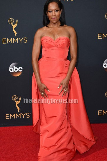 Regina King Sexy Strapless Evening Prom Gown 2016 Emmy Awards 3