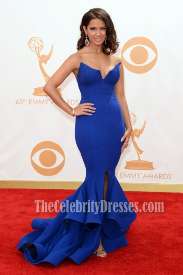 Rocsi Diaz Royal Blue Formal Dress 2013 Emmy Awards Red Care