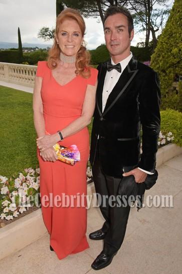 Sarah Ferguson Long Evening Prom Gown Celebrity Dress Angel Ball 2016 1