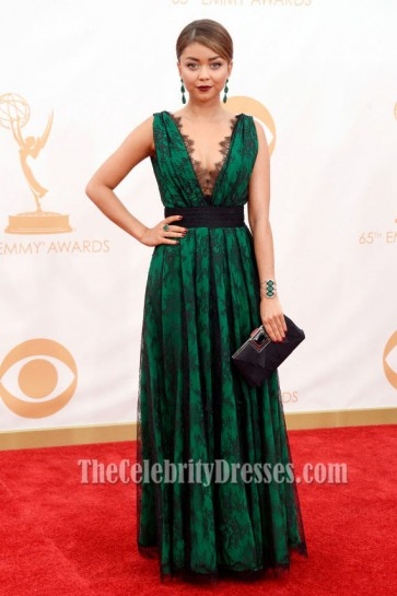 Sarah Hyland Sexy Formal Dress 2013 Emmy Awards Red Carpet