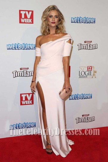 Scherri-Lee Biggs Thigh-high Split Evenign Dress 2015 TV Week Logies