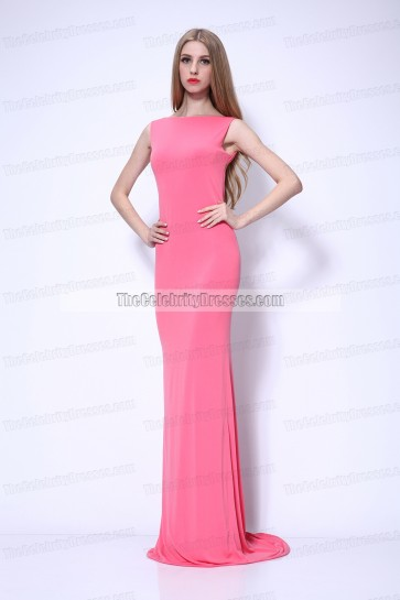 Sexy Long Open Back Evening Dresses Prom Gowns