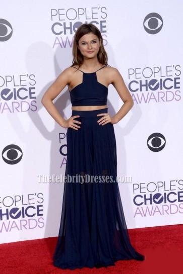 Stefanie Scott Navy Blue Two-Piece Evening Prom Dress 2016 People's Choice Awards 1