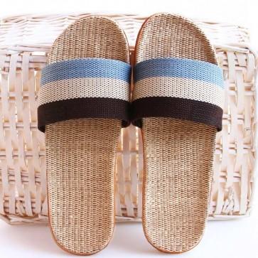 Striped Multicolor Open Toe Sliders
