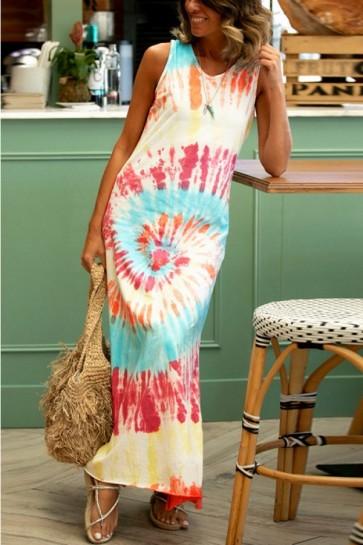Print Tie Dye Tank Dress