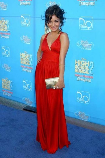 Vanessa Hudgens Red Prom Evening Dress High School Musical 2 Premiere