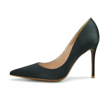 Women's Black Pointed Toe Heels Prom Shoes For Sale
