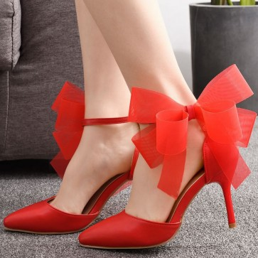 Women's Cap-toe Wedding Shoes With Bows