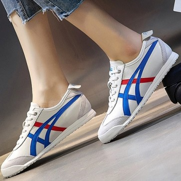 Women's PU Round Toe Lace-up Sneakers