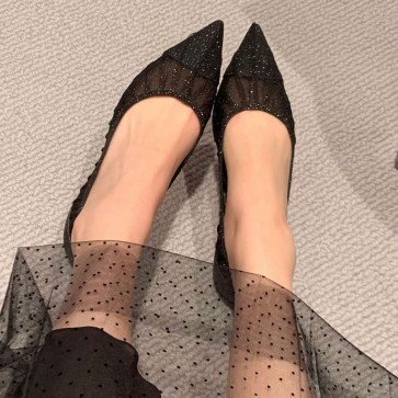 Women's Tulle Pointed Toe Wedding Shoes
