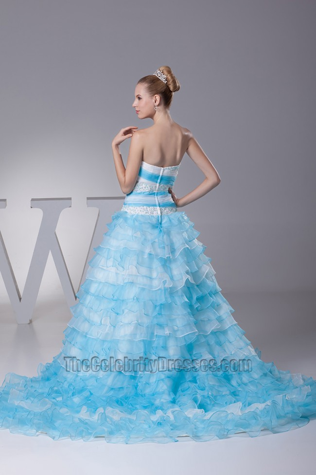 Blue and White Strapless Ball Gown Wedding Dress LOVE the. my prom dress gave mine to the goodwill a couple. Luxury navy blue chiffon long V-neck prom dress Blue Ball. Seriously it s like a My Little Pony and Tinkerbell. Elegant White and Blue Quinceanera Dress .