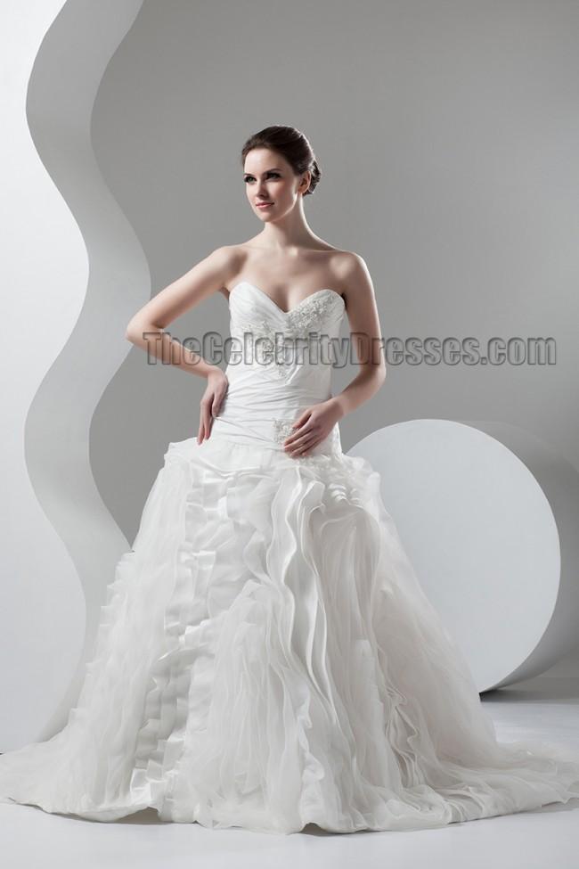 Celebrity Wedding Dress Inspiration : Home wedding celebrity dresses inspired strapless