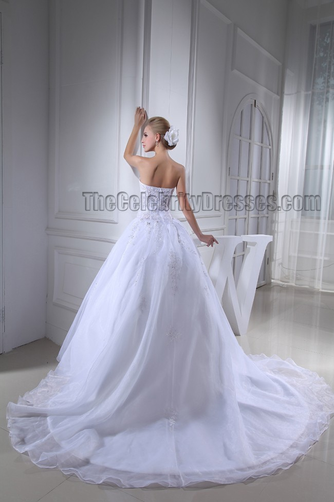 Celebrity Wedding Dress Inspiration : Gowns celebrity inspired strapless sweetheart beaded wedding dress