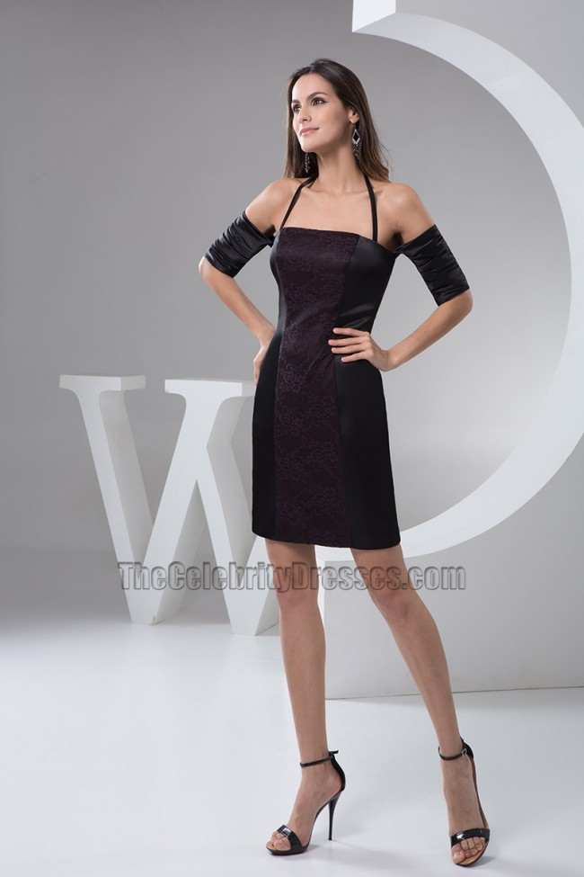 06c84308a8 Chic Short Black Off-the-Shoulder Party Homecoming Dresses ...